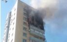 В Караганде загорелся многоэтажный дом