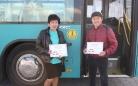 Лучшими на маршруте в апреле стали Нурлан Макышев и Рауза Таженова