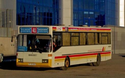 Жители поселка Уштобе недовольны движением автобуса №41