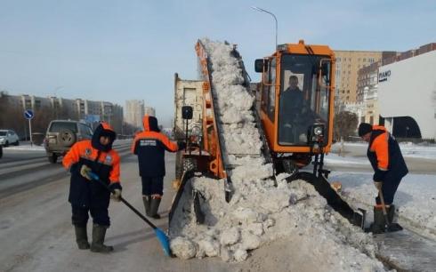 Дорожные службы Караганды работают в усиленном режиме