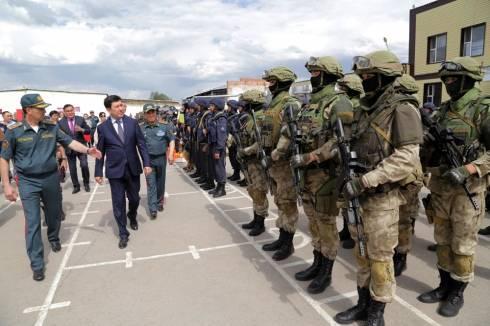 Ерлан Кошанов ознакомился с условиями службы и быта военных