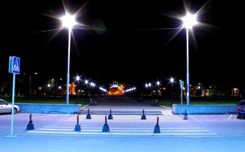 В Караганде на улице Университетской поменяют уличное дорожное освещение