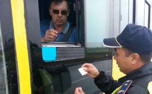 В Карагандинской области проводится ОПМ «Автобус»