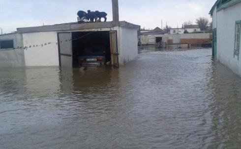 Десятки домов подтоплены из-за паводка в Карагандинской области