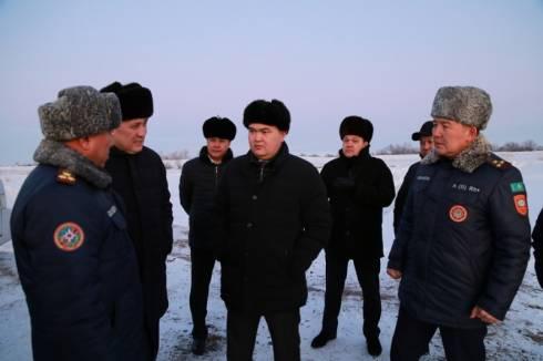 Женис Касымбек посетил паводкоопасный участок Караганды