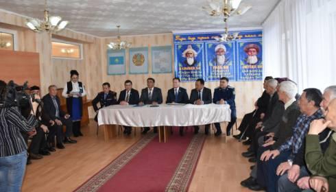 В Каркаралинске открыт кабинет Совета биев и подписан Меморандум о сотрудничестве