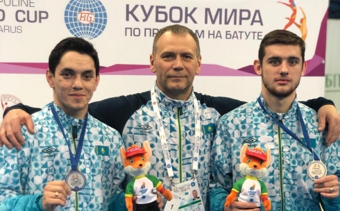 Спортсмен из Караганды стал бронзовым призером кубка мира по батутной гимнастике
