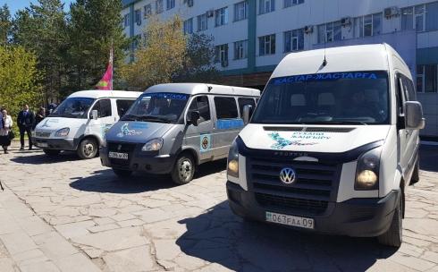 Карагандинские студенты проводили караван «Жастар – жастарға!»