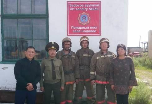 В Осакаровском районе открыли еще один пожарный пост