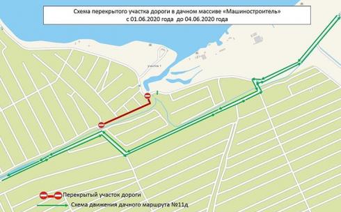 В Караганде будет перекрыт участок дороги в дачных массивах Федоровского водохранилища