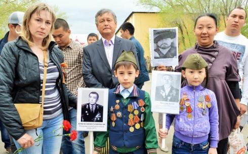 Более тысячи карагандинцев прошли в колонне «Бессмертного полка»