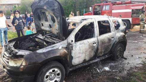 В Караганде сгорел автомобиль