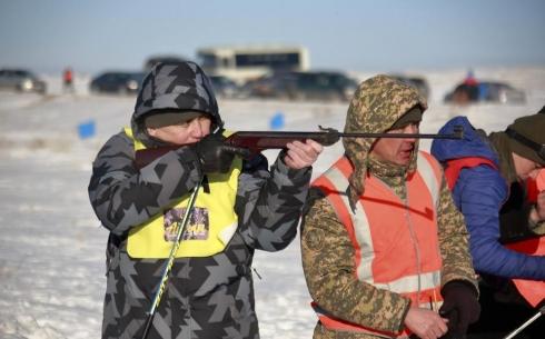 Военнослужащие Карагандинского гарнизона приняли участие в лыжном забеге