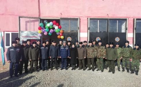В Карагандинской области появилась новая поселковая пожарная часть