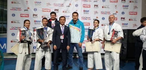 Четыре медали завоевали карагандинские каратисты на турнире в Москве