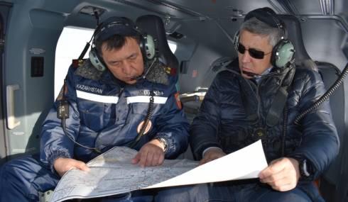 В зоне особого внимания: продолжаются облёты паводкоопасных территорий в Карагандинской области
