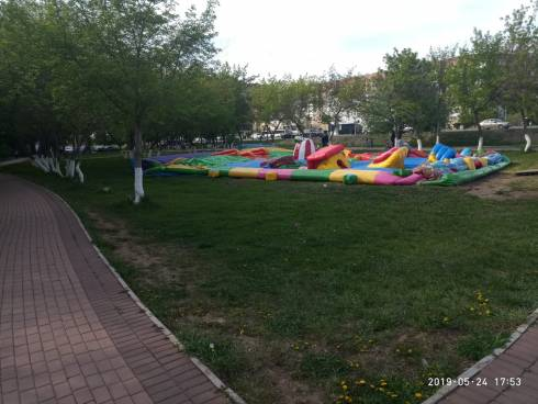 В Караганде приостановят деятельность всех надувных аттракционов