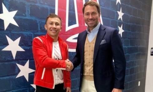 Головкин официально подписал контракт с новым промоутером