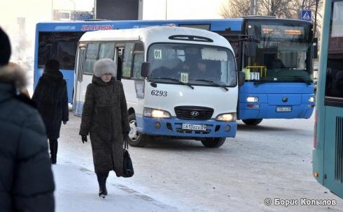 Подрались водители пассажирских автобусов в Караганде