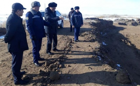 Начальник ДЧС Карагандинской области посетил с рабочим визитом Нуринский район