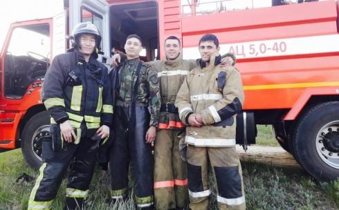 В Караганде пожарные спасли трех человек