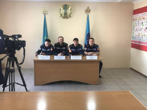 В УЧС города Караганды проведен брифинг