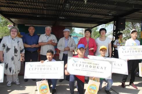 По миллиону тенге получили команды-участники форума туристов в урочище Бектау-ата