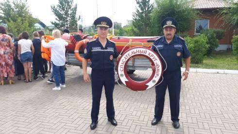 В городе Темиртау проведена акция по передаче эстафеты символического «Спасательного круга – Өмір»