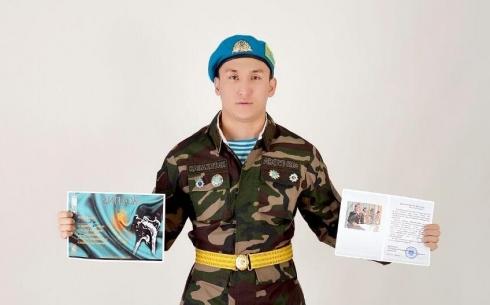 В Караганде командир полка «Айбын» направил благодарственное письмо родителям одного из военнослужащих