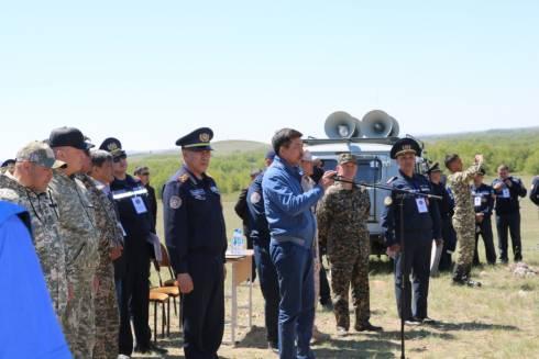 Масштабное учение по тушению природного пожара проведено в Карагандинской области