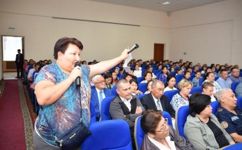 Начальник ДП Карагандинской области провел ежегодную отчетную встречу с жителями города Балхаш