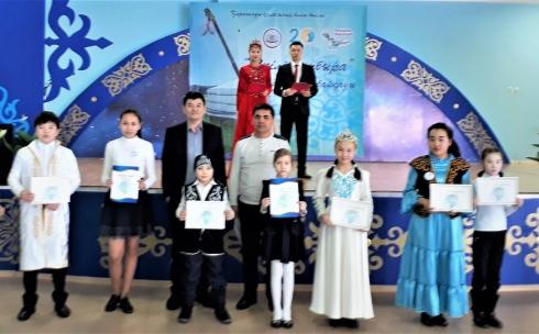 В Караганде состоялось состязание юных домбристов «Үкілі домбыра»