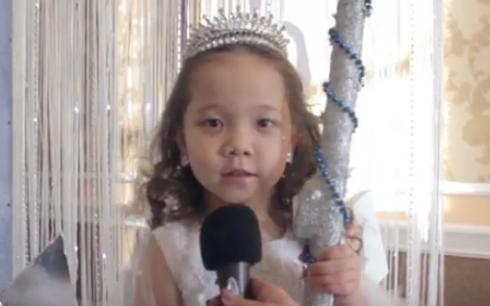 Дети поздравляют карагандинцев с наступающим Новым годом