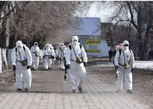 Завтра работы по дезинфекции пройдут в Октябрьском районе Караганды