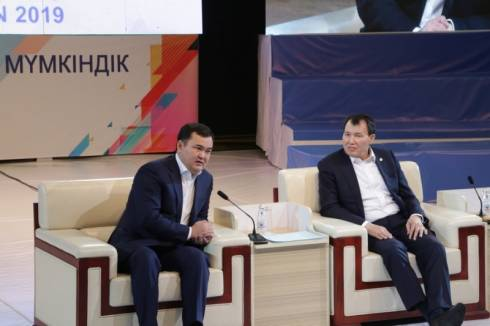 Алик Шпекбаев и Женис Касымбек ответили на вопросы молодых карагандинцев