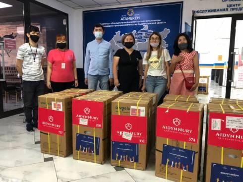 В рамках акции «Вирус добра» медучреждения Карагандинской области получили кислородные концентраторы