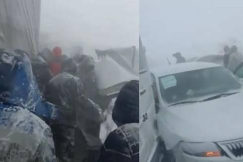 Массовое ДТП произошло возле Темиртау