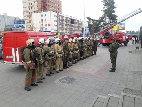 В здании Дворца спорта «Ақжолтай» проведено очередное пожарно-тактическое учение