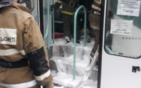 В Темиртау на ходу загорелся трамвай