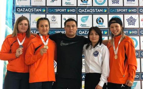 Карагандинские спортсменки завоевали призовые места на республиканской спартакиаде по боксу