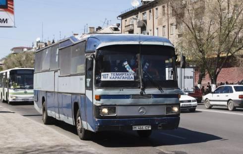 С 1 июня возобновляет свою работу автобус №107 по маршруту Караганда-Темиртау
