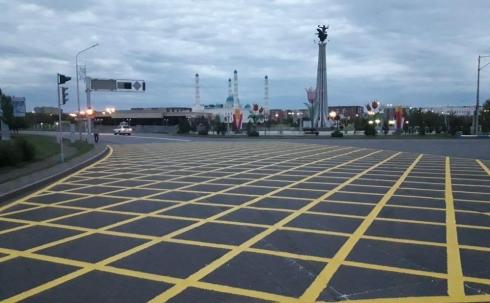 Новая дорожная разметка взволновала автомобилистов Караганды
