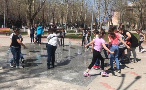 В Караганде запустили сухой пешеходный фонтан