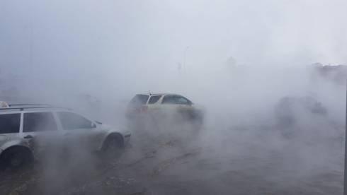 В Караганде кипятком затопило несколько улиц: образовался транспортный коллапс