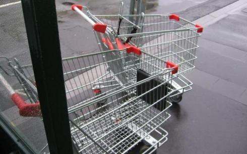 Курянин попал под статью за кражу тележки из супермаркета