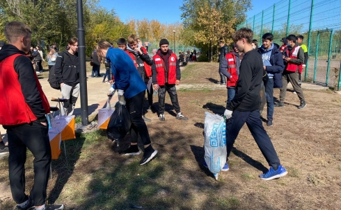 В колледжах Карагандинской области развивают плоггинг как экологическое движение