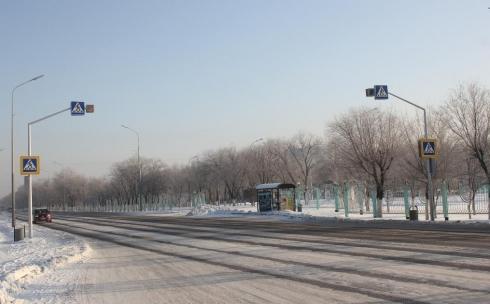 В Караганде появился активный дорожный знак нового формата