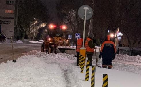 Очистка улиц Караганды от снега осуществляется по графику