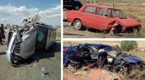 Мать и дочь погибли в аварии на трассе Жезказган - Сатпаев