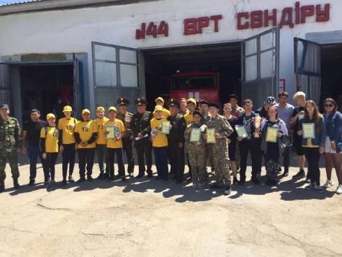 Состязания юных спасателей прошло в Сатпаеве